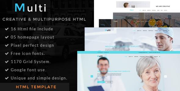 Multi - one page portfolio html template            TFx