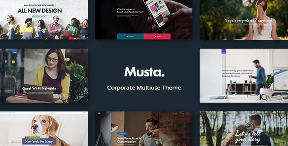 Musta - Corporate Multiuse WordPress Theme            TFx