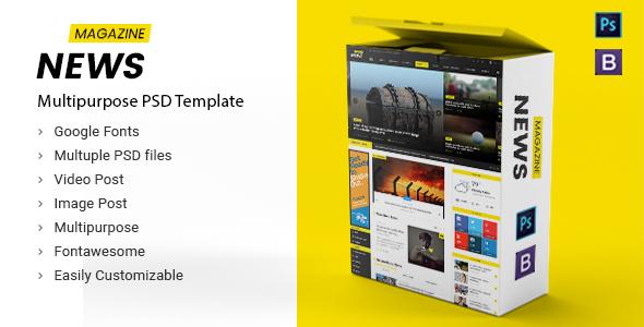 News Magazine - Multipurpose News Magazine PSD Template            TFx