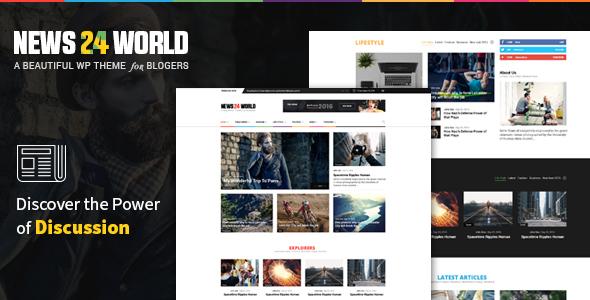 News24 - Responsive WordPress News / Magazine / Newspaper Theme            TFx