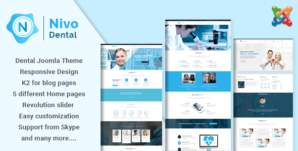 Nivo - Responsive Multi-Purpose Joomla Theme            TFx