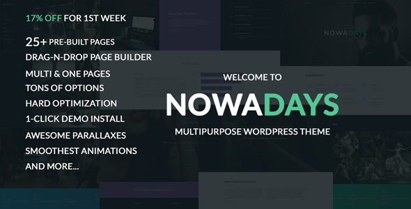 NowaDays - Multipurpose One/Multipage WordPress Theme            TFx