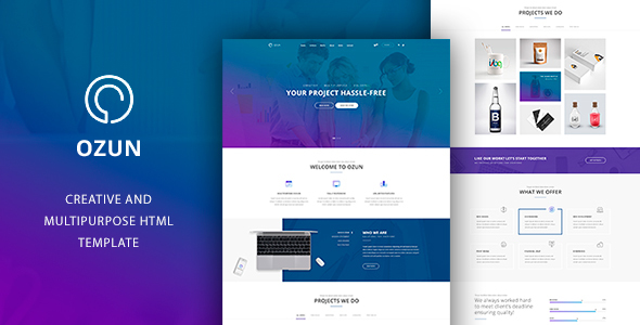 OZUN - Multipurpose HTML Template            TFx