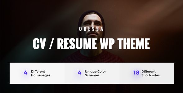 Odessa - Personal Resume, CV, VCard WordPress Theme            TFx