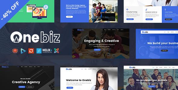 Onebiz - Responsive Multipurpose Joomla Template            TFx