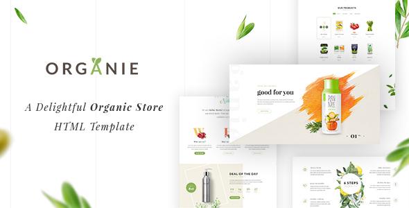 Organie HTML - An Organic Store, Farm, Cake and Flower Shop Template            TFx