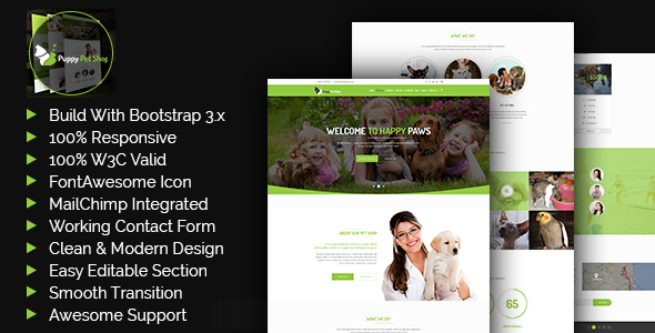Petshop - HTML5 Website Template            TFx