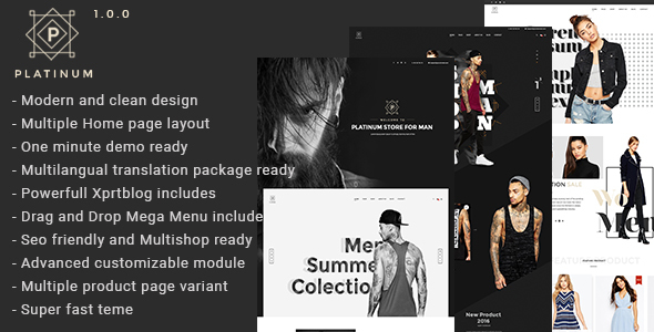 Platinum - Fashion & Accessories Prestashop Theme            TFx