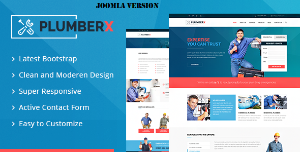 Plumberx - Plumber and Construction Joomla Template            TFx