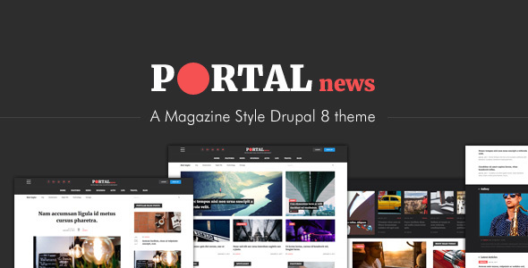 Portal News - Multi-purpose Magazine Style Drupal 8 Theme            TFx