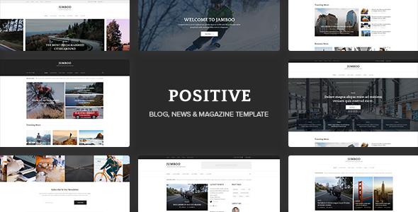 Positive - Blog, News, Magazine PSD Template            TFx