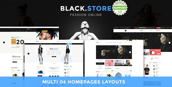 Pts Blackstore - Fashion Prestashop 1.7 Theme            TFx