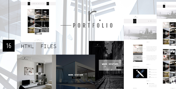 R.PORTFOLIO - Creative Personal/Company Portfolio Template            TFx