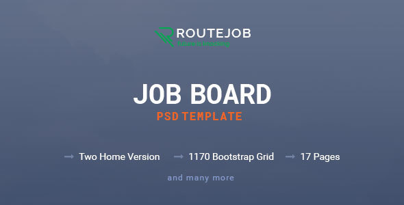 ROUTEJOB - Job Board PSD Template            TFx