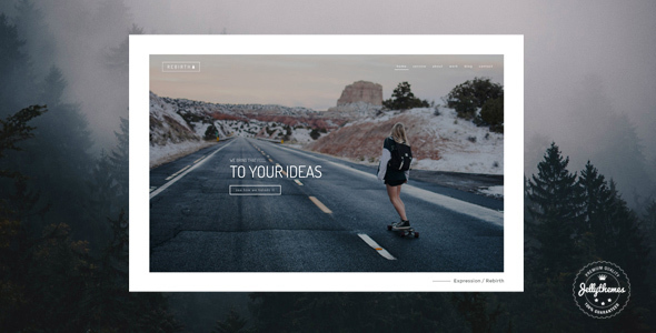 Rebirth - Freelance & Agency Portfolio WordPress Theme            TFx