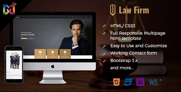 Responsive Law Firm Website Template            TFx