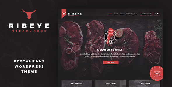Ribeye: Steakhouse & Restaurant WordPress Theme            TFx