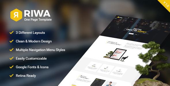 Riwa - One Page PSD            TFx