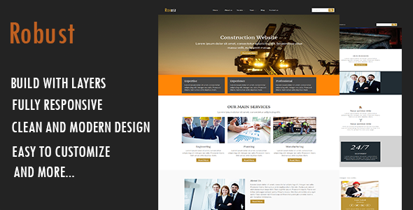 Robust-Construction WordPress Theme            TFx