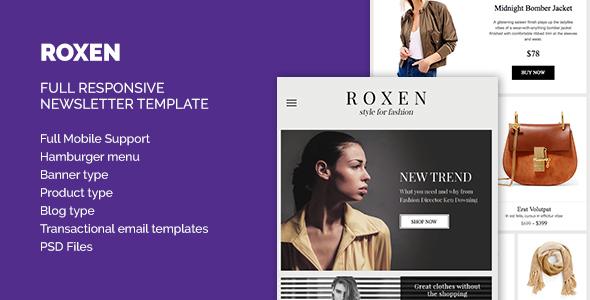 Roxen Responsive Newsletter HTML Template            TFx