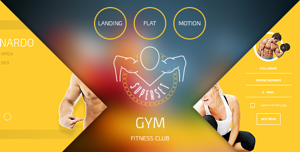 SUPERSET - GYM Landing Page            TFx
