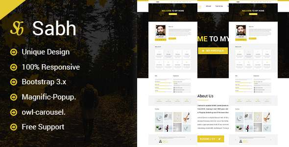 Sabh - Onepage Creative Personal Template            TFx