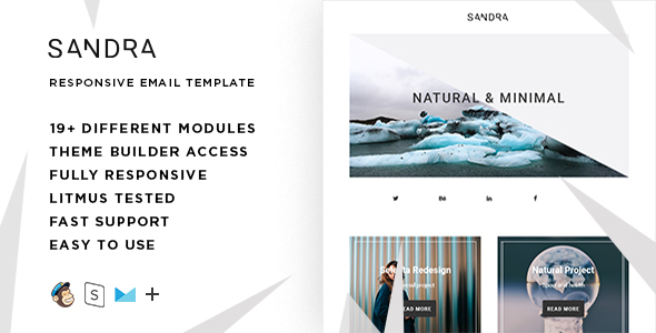 Sandra – Responsive Email + StampReady Builder            TFx
