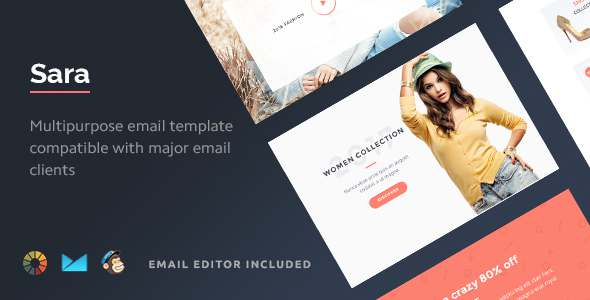 Sara - HTML Email Template + Builder 2.0            TFx