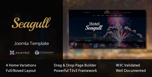 Seagull - Hotel & Resort Joomla Template            TFx