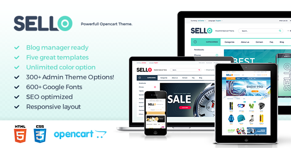 Sello - Premium OpenCart Template            TFx
