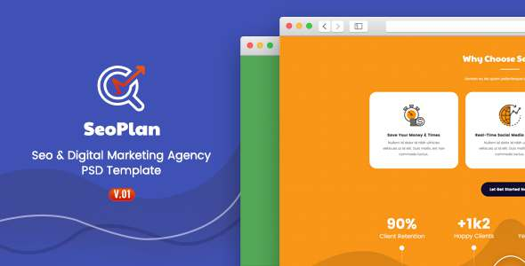 SeoPlan - SEO & Digital Marketing PSD Template            TFx