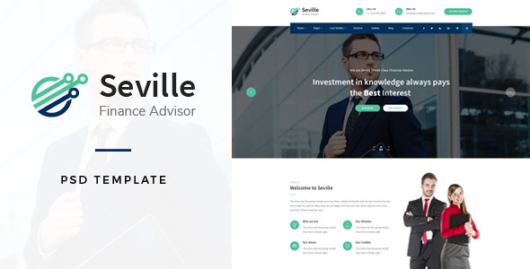 Seville - Financial Advisor PSD Template            TFx