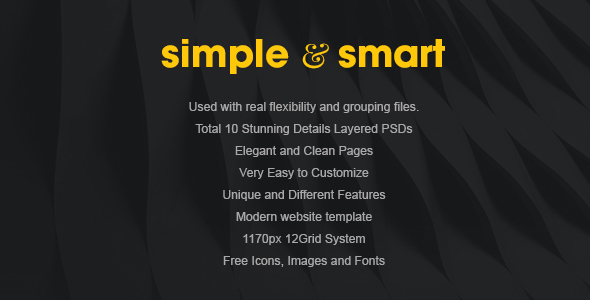 Simple and Smart PSD Template            TFx
