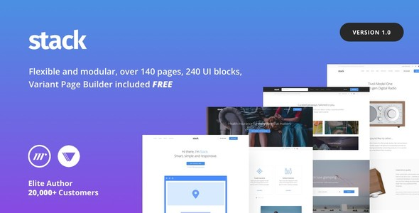 Stack Multi-Purpose HTML with Page Builder            TFx