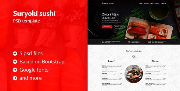 Suryoki Sushi - Restaurant PSD Template            TFx
