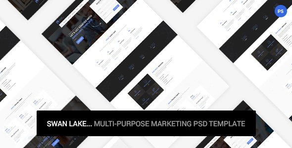 Swan Lake - Marketing PSD Template            TFx