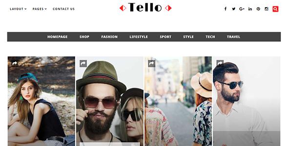 Tello - WordPress Magazine/Blog Theme            TFx