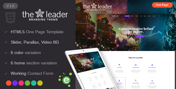 The Leader - Creative Business HTML Template            TFx
