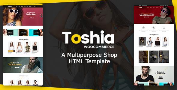 Toshia Woo-Commerce - Multipurpose Shop HTML Template            TFx
