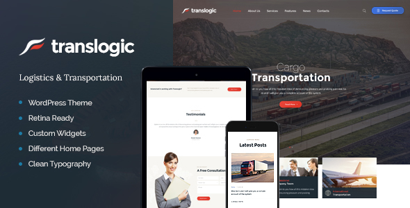 Translogic | Logistics & Transportation WP Theme            TFx