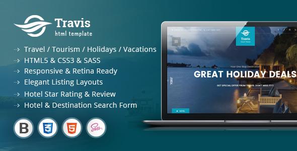Travis Travel Listing HTML5 Template            TFx