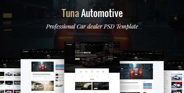 Tuna Automotive - Car dealer PSD Template            TFx