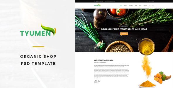 Tyumen - Organic Shop PSD Template            TFx