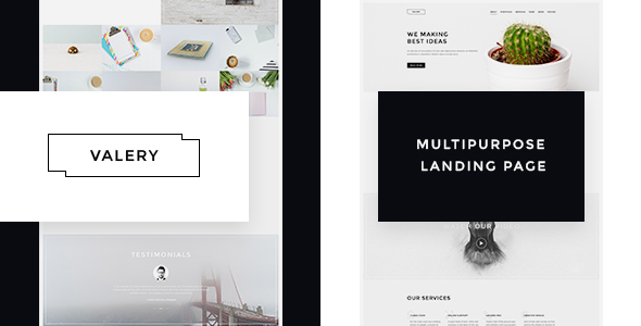 Valery- Responsive Multipurpose Bootstrap  Landing Page            TFx