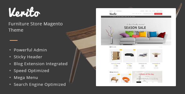 Verito - Furniture Store Magento Responsive Theme            TFx