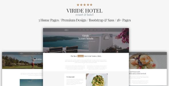 Viride - Hotel & Resort Premium HTML template            TFx