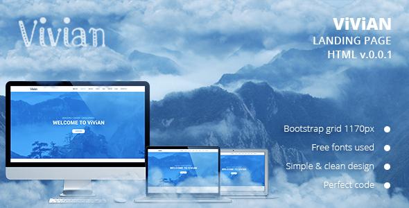 Vivian - Landing Page HTML Template            TFx
