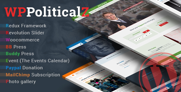 WPPoliticalz - Election Campaign Political WordPress Theme            TFx
