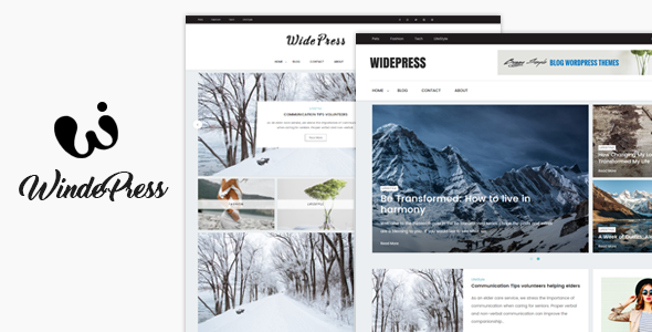 Wide - Magazine & Blog WordPress Themes            TFx