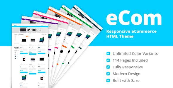eCom - Material Design eCommerce HTML Template            TFx
